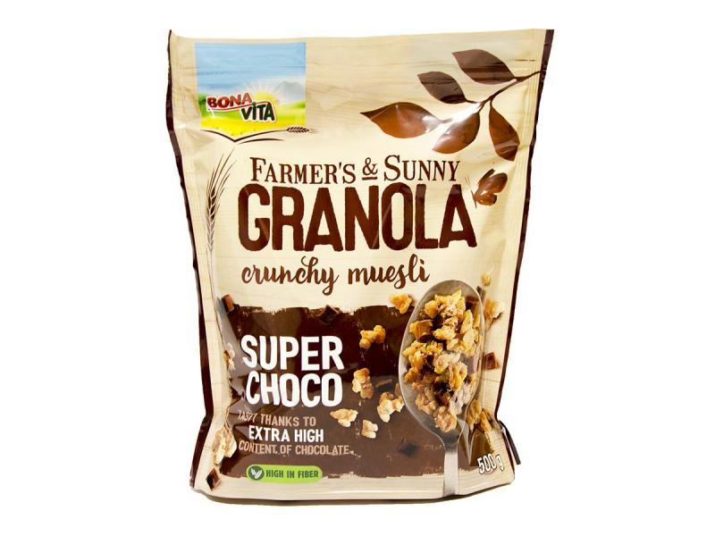 Granola super čokoláda 500g Bonavita