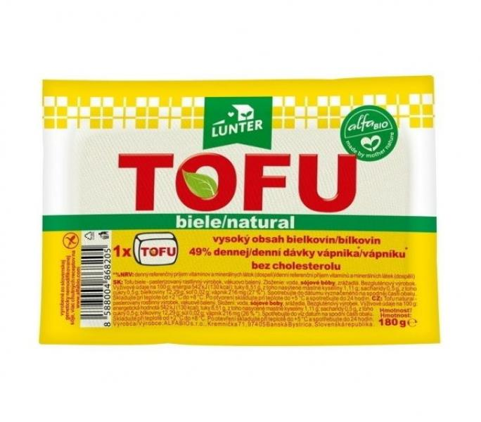 Tofu natural chlad. 180g Lunter