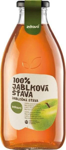 Jablková šťava 100% Zdravo 0,75l