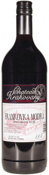 Frankovka modrá červené víno 1l Chateau Krakovany