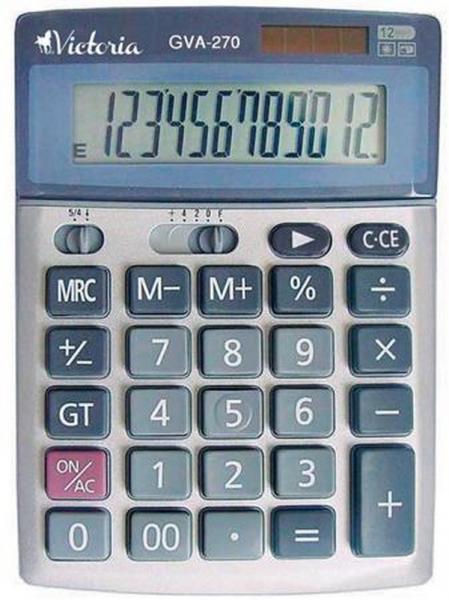 Kalkulačka stolová, 12 miestny displej