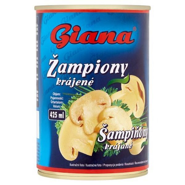 Šampiňóny krájané 425ml Giana