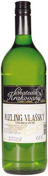 Rizling vlašský biele víno 1l Chateau Krakovany