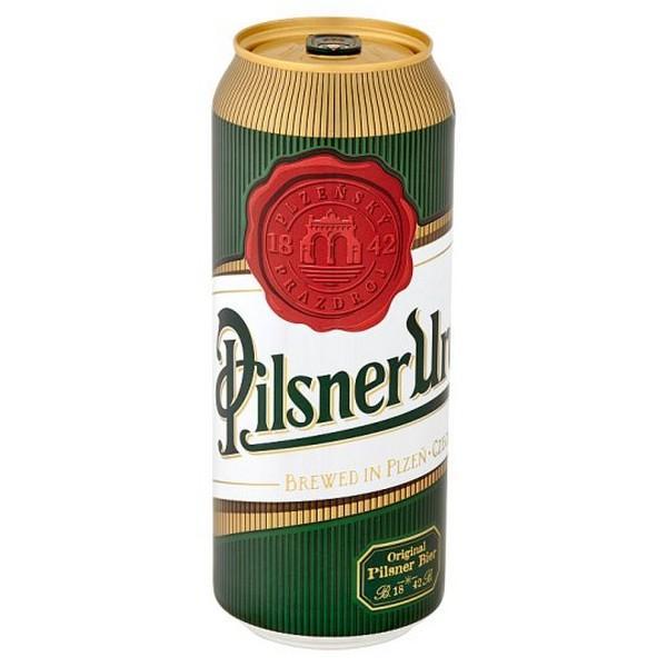 Pilsner Urquell Pivo svetlý ležiak 500ml plechovka 12%