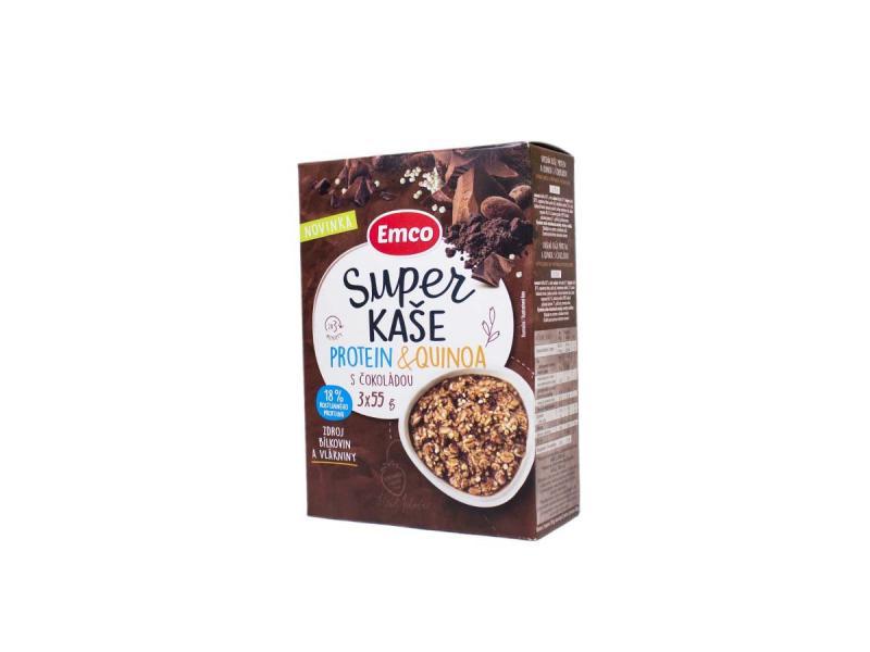 Emco Super kaša Protein a Quinoa s čokoládou 3x55 g