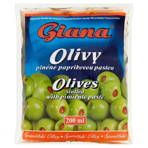 Giana olivy zelené s paprikovou pastou 195g